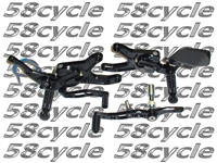 2004-2009 KTM 990 Super Duke/R VCR 38GT Fully Adjustable Gilles Racing RearSets - Black/Black