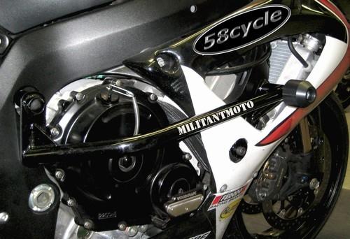 2009-2012 Yamaha R1 Militantmoto Barrier Bar Frame Rails with Frame ...
