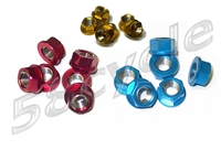 10mm Anodized Aluminum Sprocket Nuts 6-pack