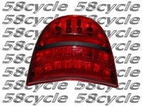 Clear Alternatives 2002-2003 Honda CBR954RR Red Tail Light with Integrated Signals