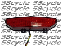2008-2014 Kawasaki Concours 14 Clear Alternatives RED Tail Light with Integrated Signals