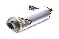 Honda 2010 CRF250R Two Brothers Racing Slip On Exhaust System Standard Gold Series M7 Aluminum Canister (005-2660406V)