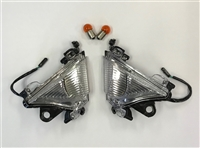 "2004-2005 Kawasaki ZX10R Clear Alternatives Clear ""Euro Style"" Front Turn Signal Lights"