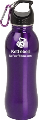 Kettlebell Water Bottle-Purple