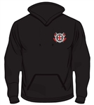 Contrast Colour Hoodie (Unisex) - Black/Red