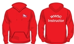 WWSC Red Instructor Hoodie (Adult XS to XL)