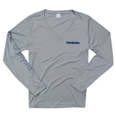 Women's Performance LS Tee - Silver