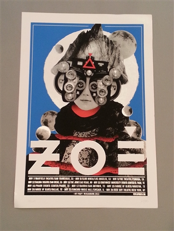 Zoe Screen Print U.S. Tour 2013