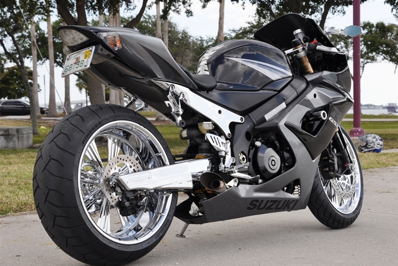 2005-06 GSXR 1000 240 Wide Tire Conversion Kit CLICK ON PICTURE TO BUILD  YOUR KIT PRICE