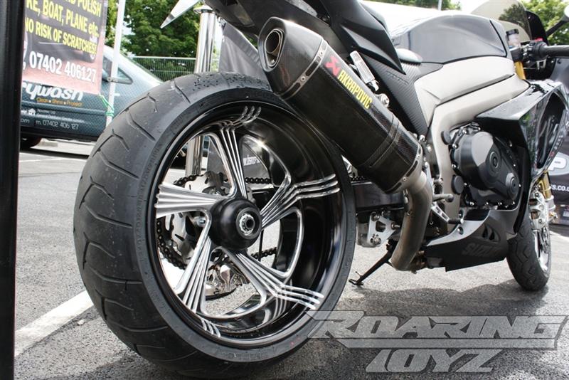 09 16 gsxr 1000 240 single sided swingarm wide tire kit billet cnc