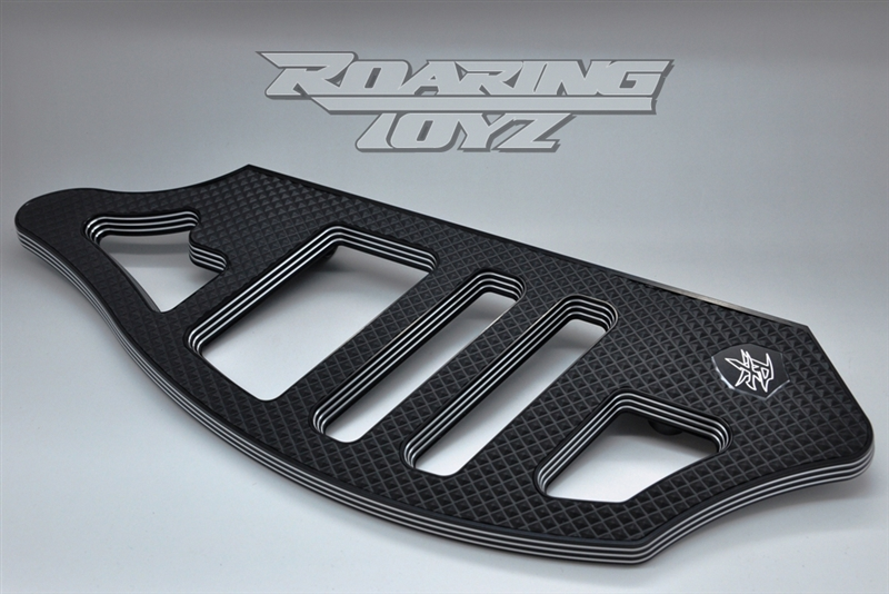 CNC CNC Cut Driver Floorboards For Harley Davidson Softail Dyna Touring Black