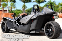 Polaris Slingshot Performance Custom Wheel Tire Package 19 Inch Wheels Style 14 Race Compound Tires Wide 305 Fat Rear Tire Toyo 888 Ultimate traction base sl model 2015 SS Forged Black Machined 19x11 rear 19x9 front racing light weight forged