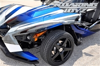 Custom Wheel Polaris Slingshot Performance Tire Package 19 Inch Wheels Style 16 Race Compound Tires Wide 315 Fat Rear Tire Ultimate traction base sl model 2015 SS Forged Black Machined 20x11 rear 19x9 front racing light weight forged widest
