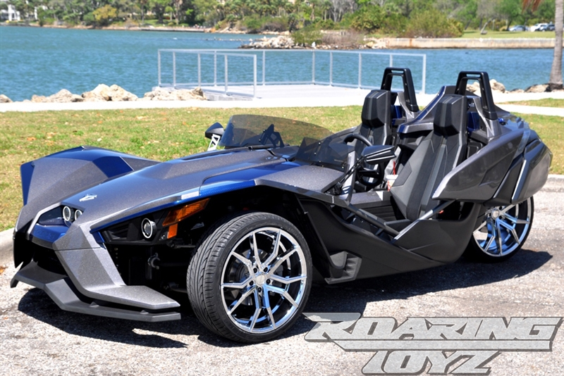 Custom Chrome Wheels For Polaris Slingshot 20 Inch Front 22 Inch Rear Wide Fat Wheel Tire 305 Rear 22x10 5 20x8 5 20x9 Rim Rims Forged Aluminum Tires Package Set Mounted