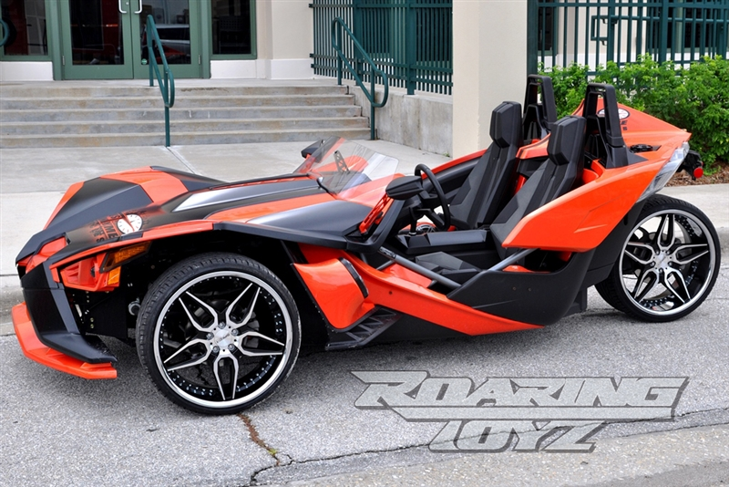 Custom Wheels For Polaris Slingshot 22 Inch Front 22 Inch Rear Wide