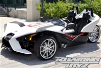 "Custom Polaris Slingshot Chrome Wheels 20 Inch Front 22 Inch Rear Fat Wide Rear Tire Wheel 20x9 22x10.5 22"" 20"" 305/25R22 305 Tire 255/35R20 Wheel Rim Rims 2015 2016 Forged Big SS Base Upgrade Chrome Plated"