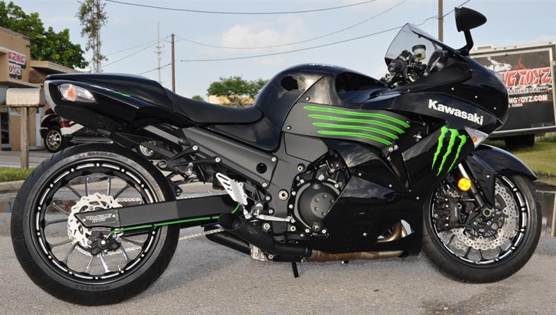 12-18 Kawasaki ZX14R VooDoo Black Slip-On Exhausts