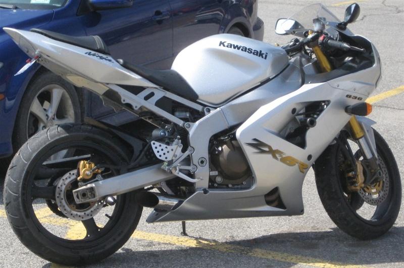 03 04 Kawasaki Zx6r636 Voodoo Polished Slip On Exhaust