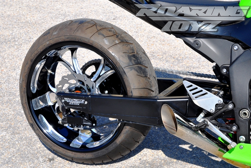2013-2015 ZX636 ZX6R 240 Wide Tire Conversion Kit CLICK ON PICTURE TO BUILD  YOUR KIT PRICE