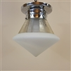 Two Tone Art Deco Shade with Original Chrome Hardware