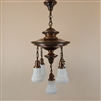 Ornate Two Tier Five Light Ceiling Light