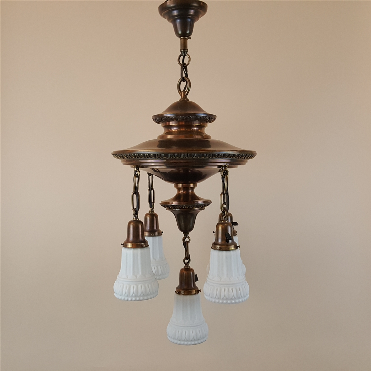Ornate Two Tier Five Light Ceiling