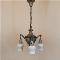 Four Light Early Electric Chandelier