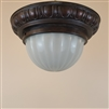 Camphor glass ceiling light with brass fixture