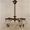 Early Four Light Arts and Crafts Chandelier. (SOLD)