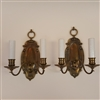 Pair of Two Arm Cast Brass Wall Lights