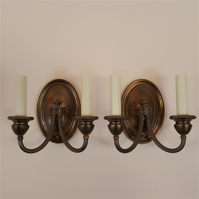 Pair of Two Arm Neoclassical Wall Lights