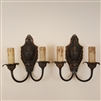 Pair of early Art Deco wall lights