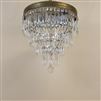 Three tiered crystal chandelier