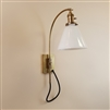 Reproduction adjustable brass wall light