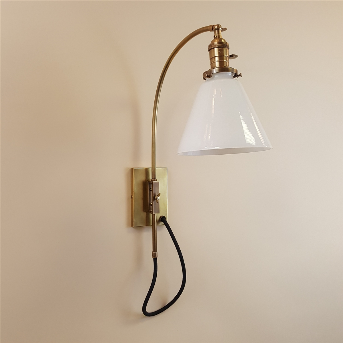 Reproduction adjustable brass wall light aloadofball Choice Image