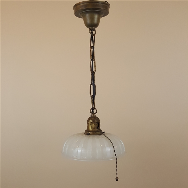 Camphor Glass Shade on Vintage Hardware (SOLD)