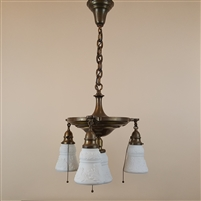 Four Light Early Electric Pan Fixture (sold)