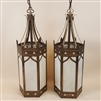 Large Brass Hanging Lantern