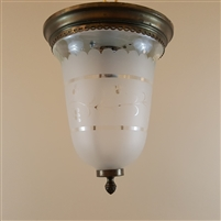 Glass Bell Hall Light (Sold)