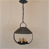 Punched Tin Ceiling Light