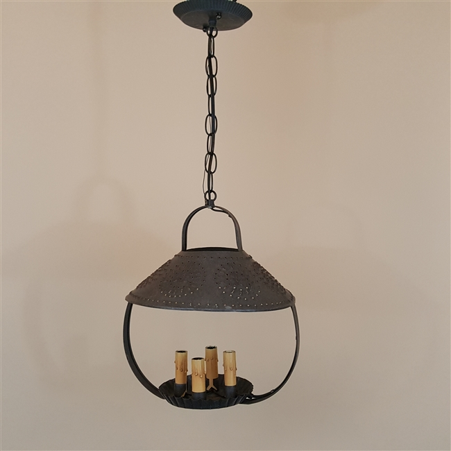 Punched Tin Ceiling Light (SOLD)