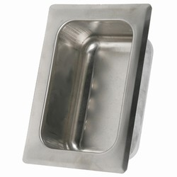 Stainless Steel Recessed Tumbler/Cup Holder - Rear Mount
