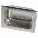 Recessed Soap Dish With Grab Bar - Mortar Mount