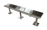 Detention Bench with Handcuff Bar - 90""
