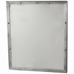 Stainless Steel Security Mirror with Seamless Frame and Concealed Mounting