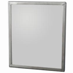 Security Mirror with seamless frame and a concealed mounting