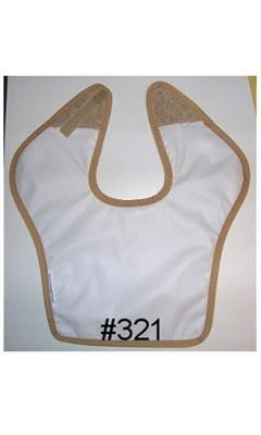 Bib with Velcro and Waterproof Back