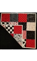 Gramma's Red, White and Black Quilt/Playmat