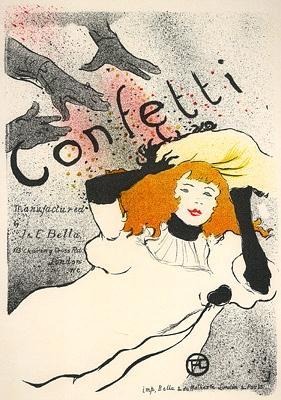 toulouse lautrec confetti vintage french poster toulouse lautrec. Black Bedroom Furniture Sets. Home Design Ideas