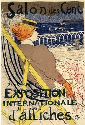 toulouse lautrec salon des cent vintage french poster toulouse lautrec. Black Bedroom Furniture Sets. Home Design Ideas